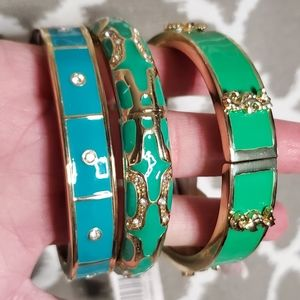 NEW Anna & Ava Seahorse Green Bangle Bracelet